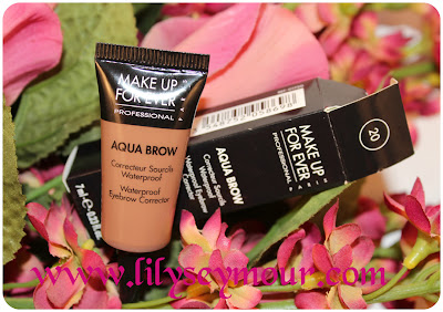 MUFE Aqua Brow Waterproof Eyebrow Corrector on Brown Skin