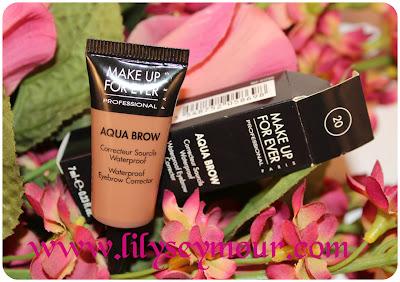 MUFE Aqua Brow Waterproof Eyebrow Corrector on Brown Skin
