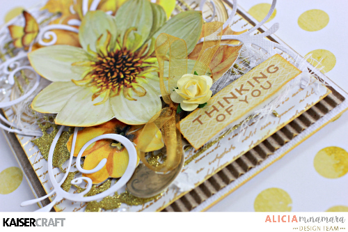 Kaisercraft Golden Grove Card by Alicia McNamara featuring Decorative Dies