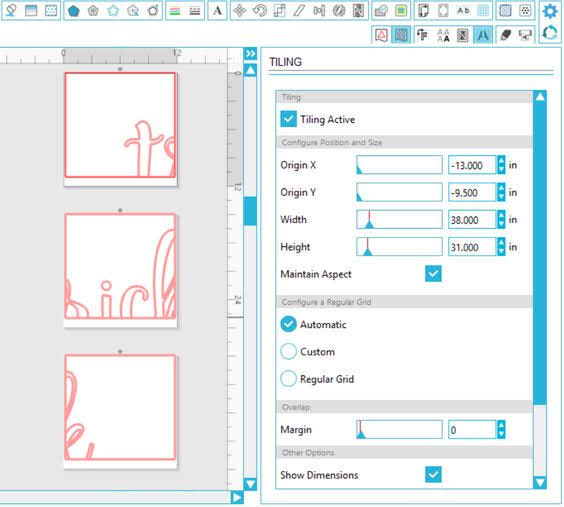 silhouette studio business edition, tiling tool, business edition, business edition silhouette studio, Tiling Function