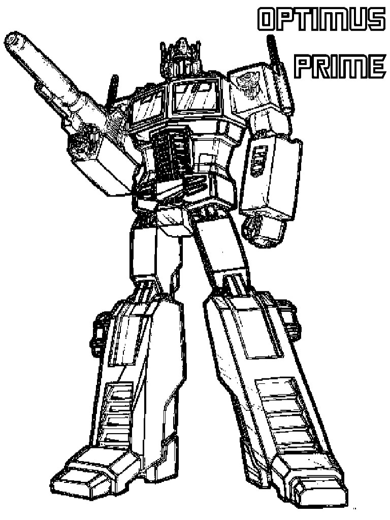 transformer coloring pages free - photo#7