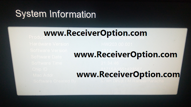 GX6605S HW203.00.001 HD RECEIVER CLINE OK NEW SOFTWARE