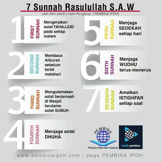 7 Sunnah Rasulullah s.a.w