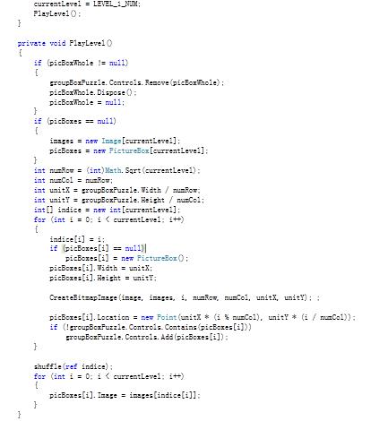 Games Development Tutorials: C# - Create an image puzzle game
