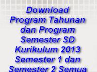 Download Program Tahunan dan Program Semester SD Kurikulum 2013 Semester 1 dan Semester 2 Semua Kelas