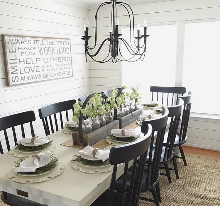 Farmhouse Dining Modern Room: The Lovely Deco: The Modest Farmhouse