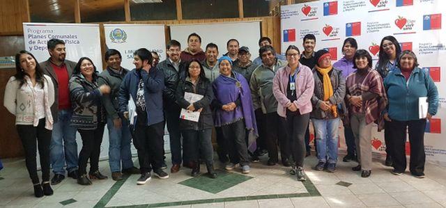 Participan en elaboración del Plan Comunal de Actividad Física y Deporte