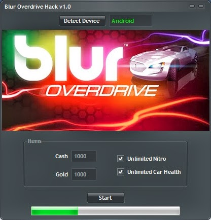 Download Free Blur Overdrive (All Versions) Hack V1.0 Unlimited Cash,Gold ,Car Health and Nitro 100% working and Tested for IOS and Android MOD.
