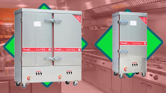 Tủ nấu cơm công nghiệp bằng gas