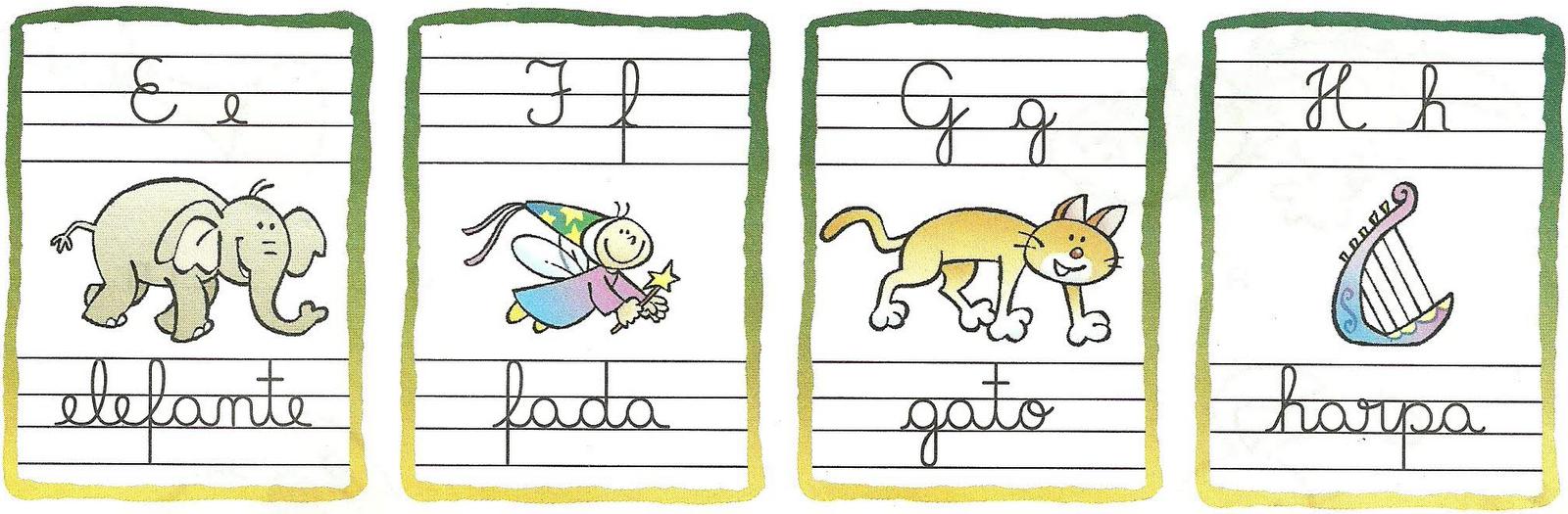 Alfabeto Ilustrado Com Letras Cursivas So Escola