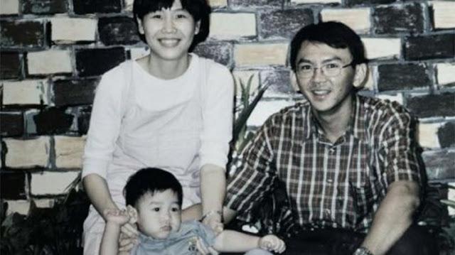 Veronica Tan dan suaminya, Basuki Tjahaja Purnama, serta anak pertama mereka, Nicholas. (Ist)