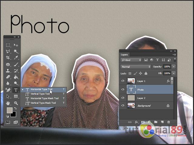 Cara membuat stiker foto dengan photohsop