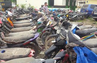 Polisi Karawang Amankan Motor Bodong