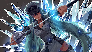 Tapeta Full HD z Akame Ga Kill z Esdeath z lodem i mieczem