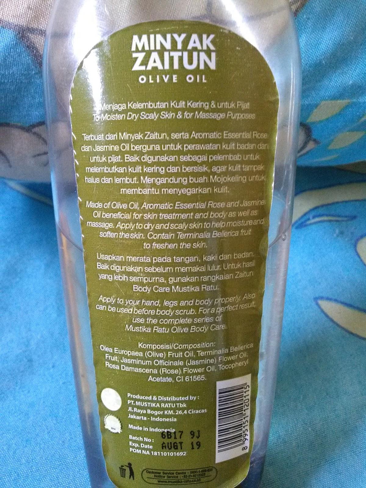Harga Minyak Zaitun Sariayu Untuk Wajah Berjerawat