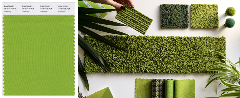 Pantone Colour of the Year 2017 Greenery 15-0343 Interior Design Samples Colour Swatch