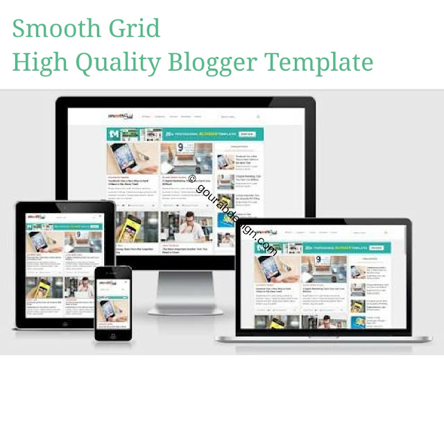 Smooth grid high quality blogger template