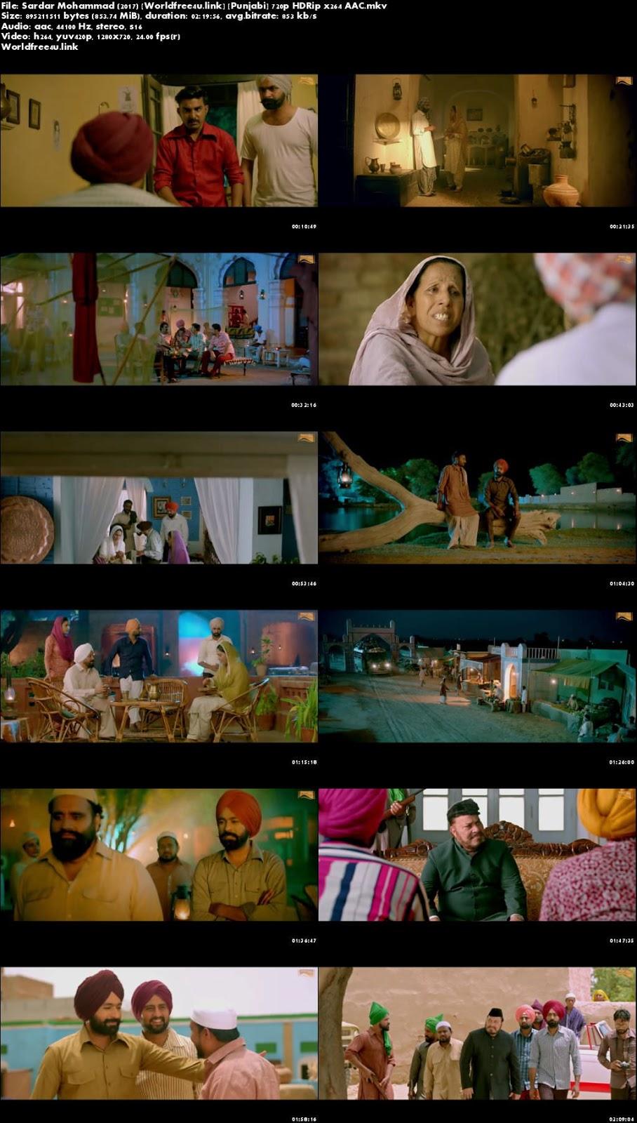 Screen Shoot of Sardar Mohammad 2017 Full Punjabi Movie Download DVDRip 720p Watch Online