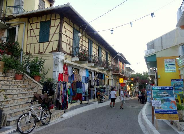 Shopping street Vasiliki Lefkada