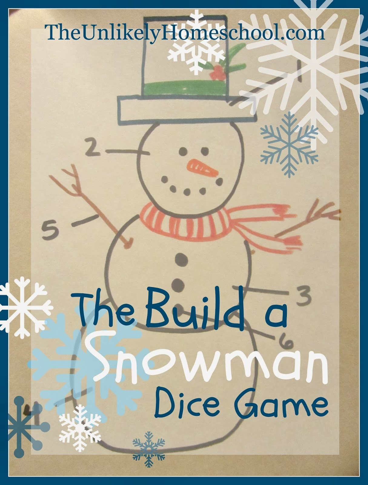 the build a snowman dice game a simple family game to play on christmas eve - Family Games To Play At Christmas