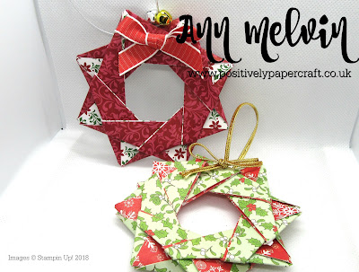 Dashing Along Origami Wreath, #stampinupdemonstrator, #positivelypapercraft,