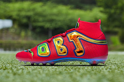 save off afa9e 1fe51 Another fixture, another pre-game cleat from fashion icon Odell Beckham Jr.  This time around the New York Giants wide receiver takes cues from Nike s  ...