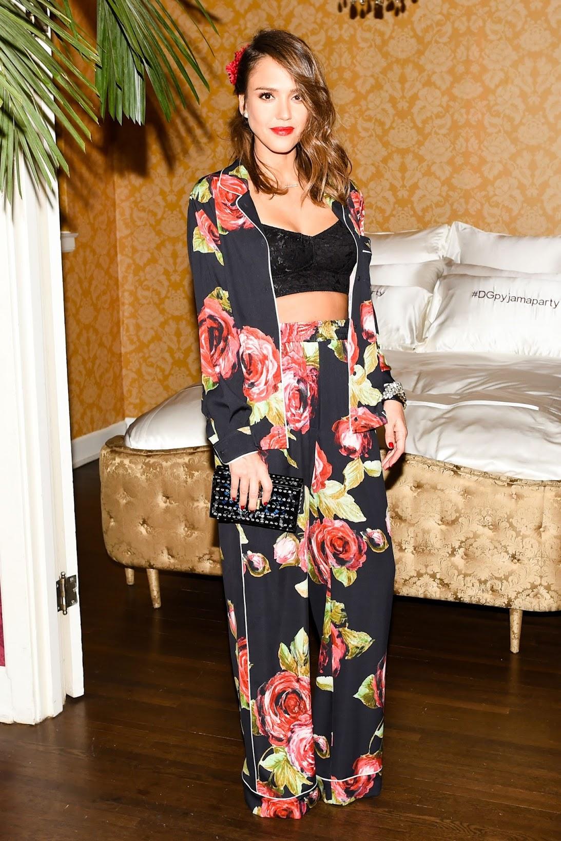 Jessica Alba at Dolce & Gabbana Pyjama Party 2016, Dolce & Gabbana Pyjama Party 2016- Who wore what