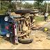 दुर्घटना में मौत के बाद ग्रामीणों का हंगामा