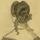 Hair arranged in a scroll, Godey's 1863
