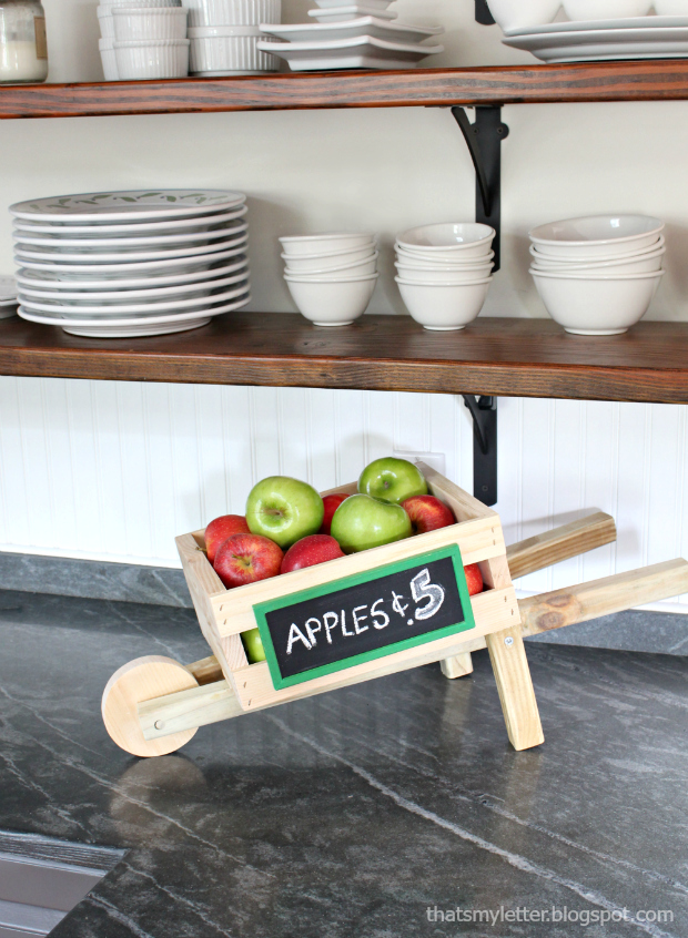 tabletop rustic wheelbarrow tutorial
