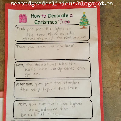 First, I had the students complete a graphic organizer to get their ideas  on paper in rough copy. - How To Decorate A Christmas Tree - A Procedural Writing Craftivity