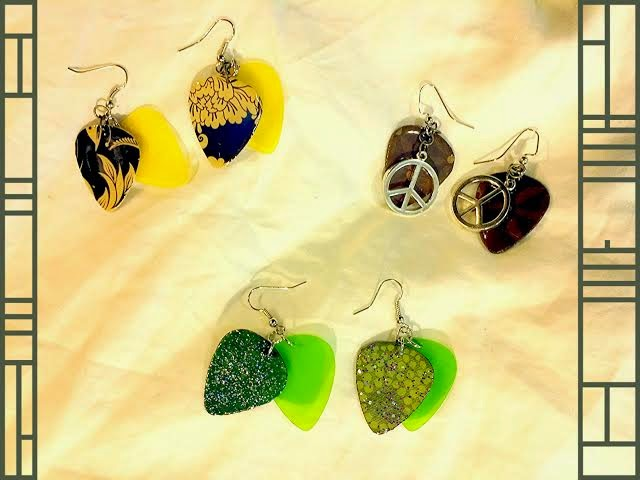 More Random Guitar Pick Earrings