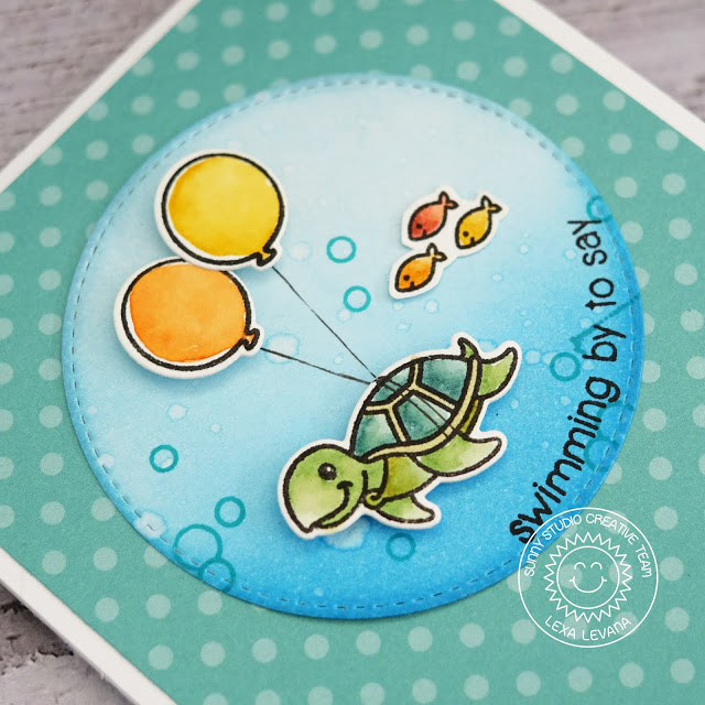 Sunny Studio Stamps: Oceans Of Joy Magical Mermaids Summer Themed Birthday Shadow Box Card by Lexa Levana
