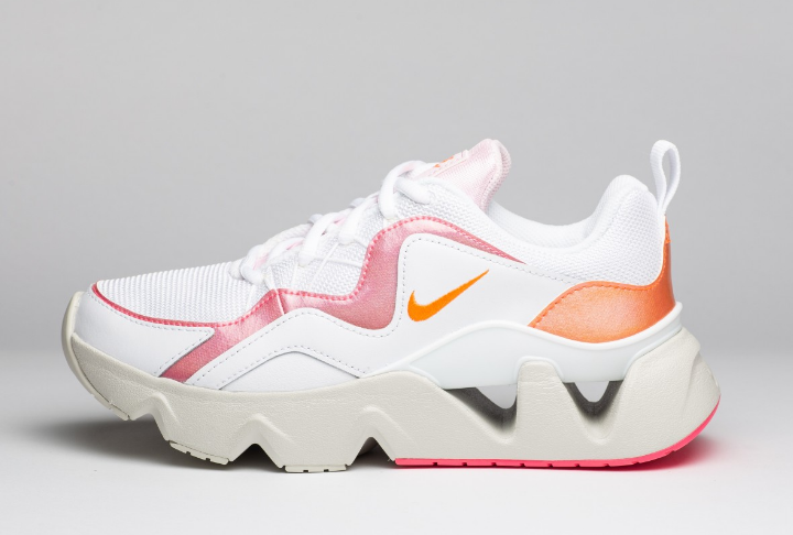 Adidasi femei originali Nike WMNS RYZ 365 albi cu talpa groasa