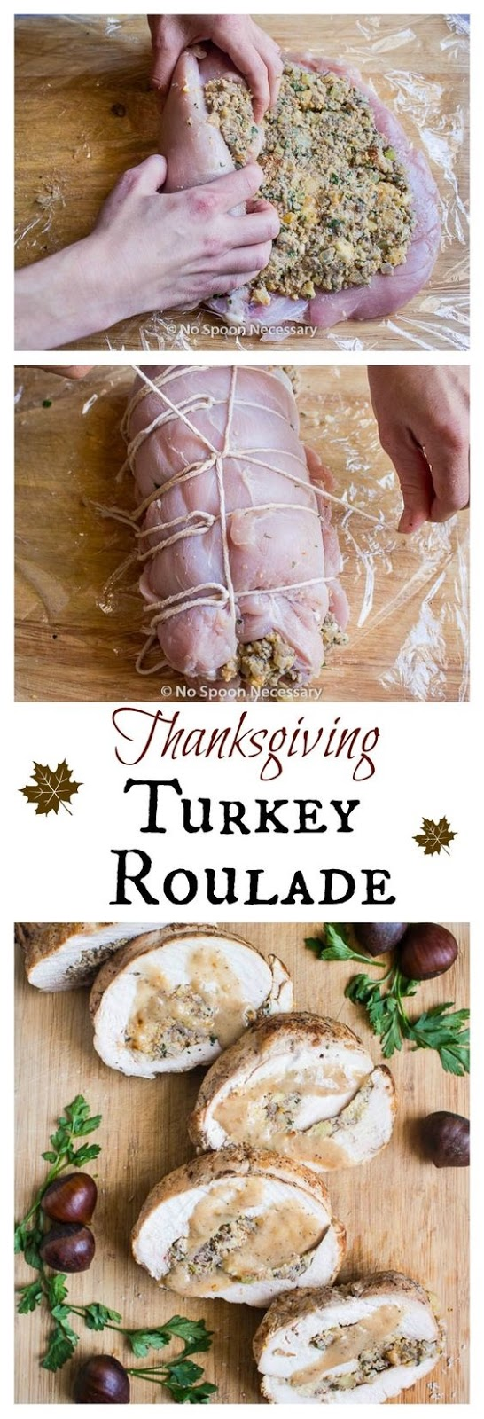 Thanksgiving Turkey Breast Roulade (With Stuffing)