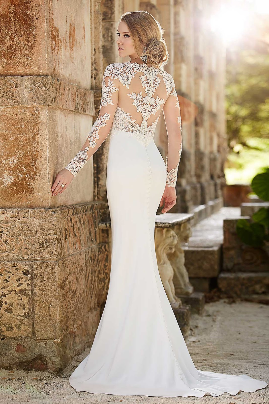 landybridal wedding dresses fitted lace wedding dress Landybridal Wedding Dresses