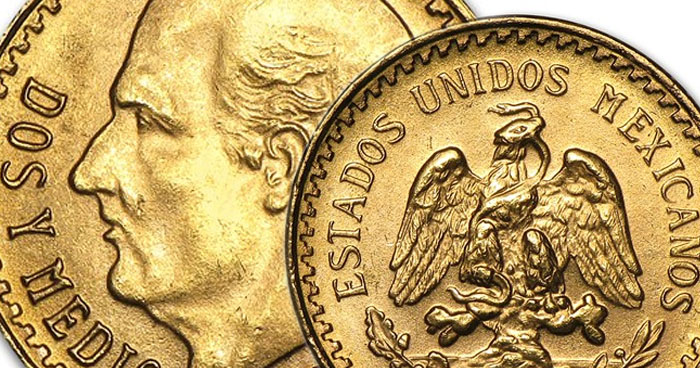 We have Approximately 100 Mexican 2 1/2 Peso Gold Coins