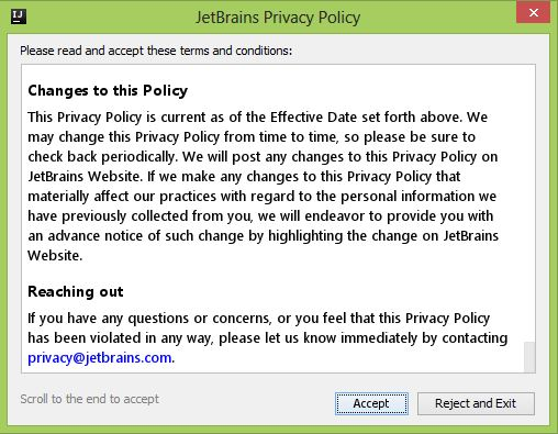 IntelliJ IDEA Community Edition Setup-JetBrains Privacy Policy-Kotlin