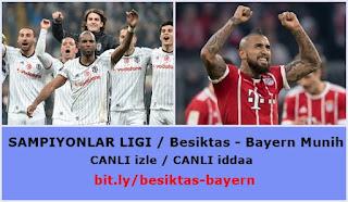 Beşiktaş - Bayern Münih maçını canlı izleyin