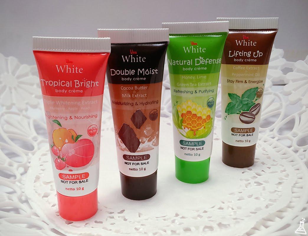 4 Varian Viva White Body Crème Untuk Kulit Tubuh Ekstra Lembap