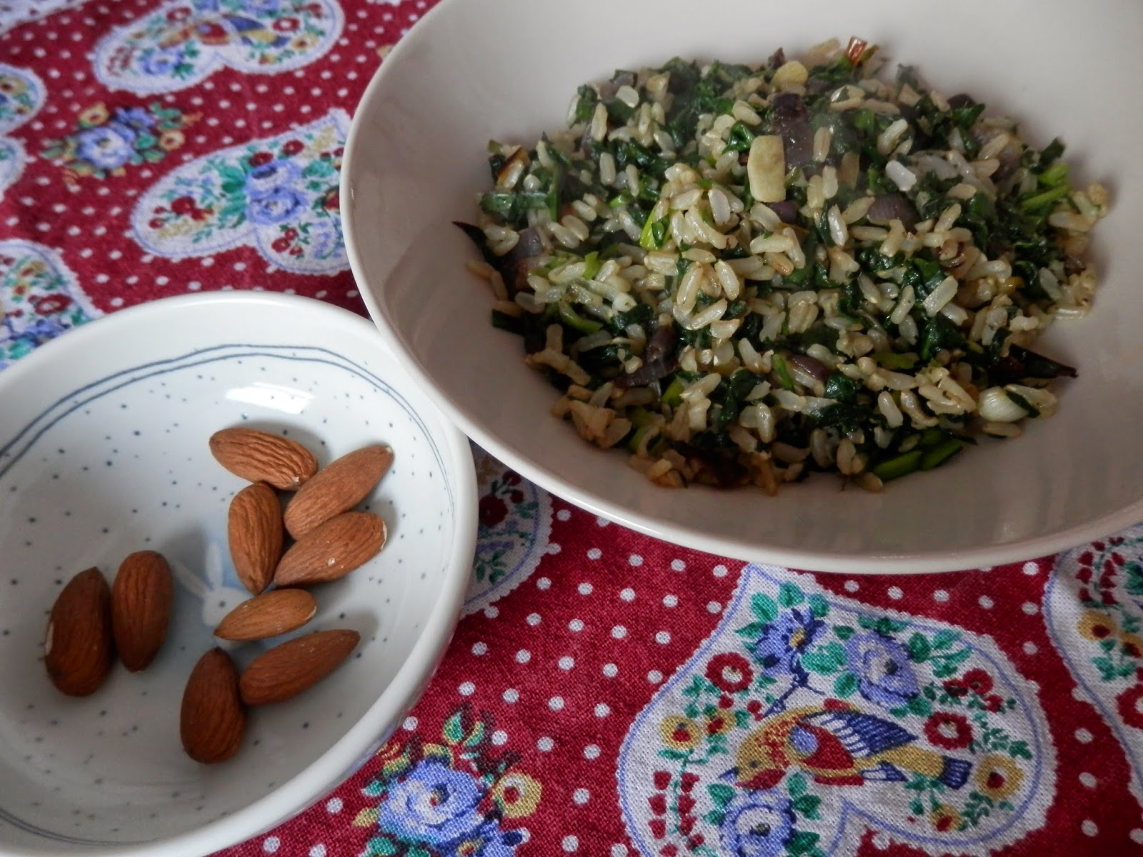 Vegan meal idea, vegan spinach and brown rice. secondhandsusie.blogspot.co.uk