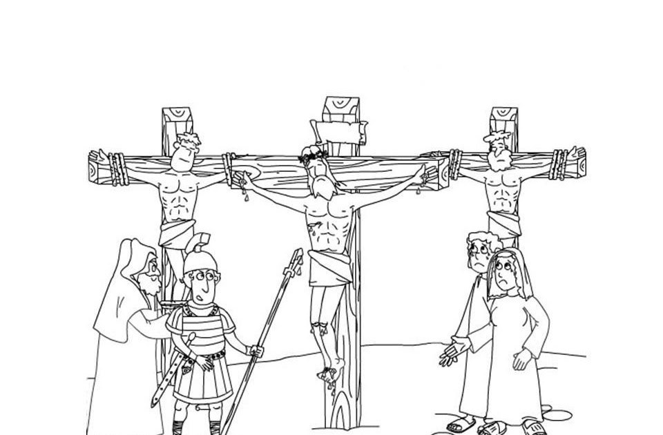 Crucifixion of Jesus Coloring ~ Child Coloring