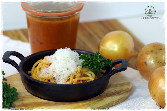 Gartenblog Topfgartenwelt Buchtipp Pasta e basta! Rezept: Spaghettoni all'amatriciana: Nudeln selber machen - der perfekte Pastateig