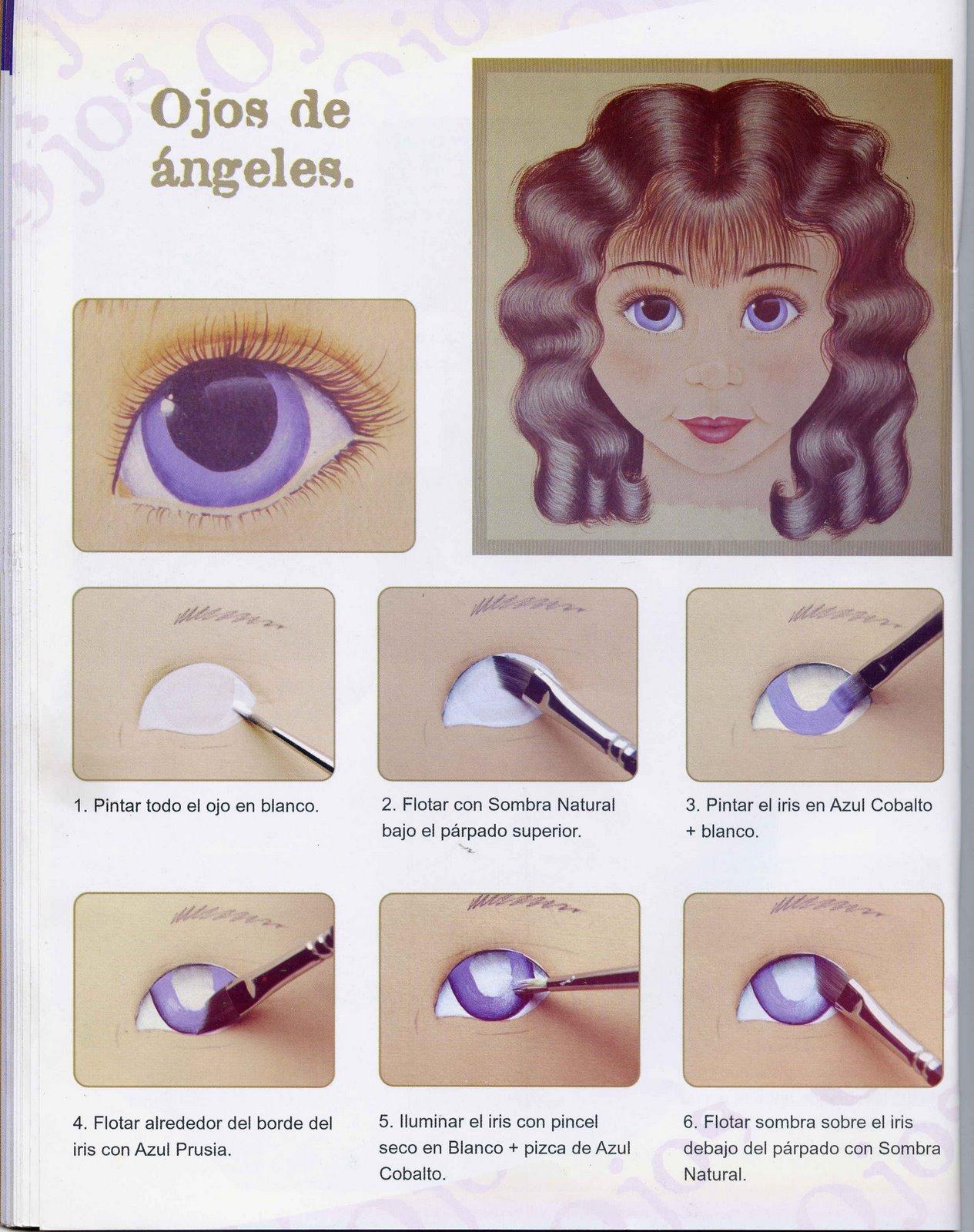 Dibujos y plantillas para imprimir pintado ojos de mu ecas for Como pintar un ojo