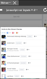 invite all post likers in one click