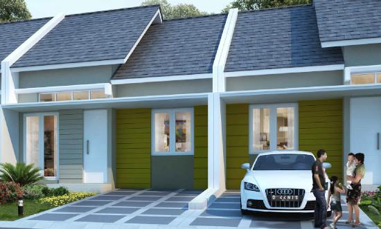tampak depan rumah minimalis ukuran 7x12 meter 2 kamar tidur 1 lantai