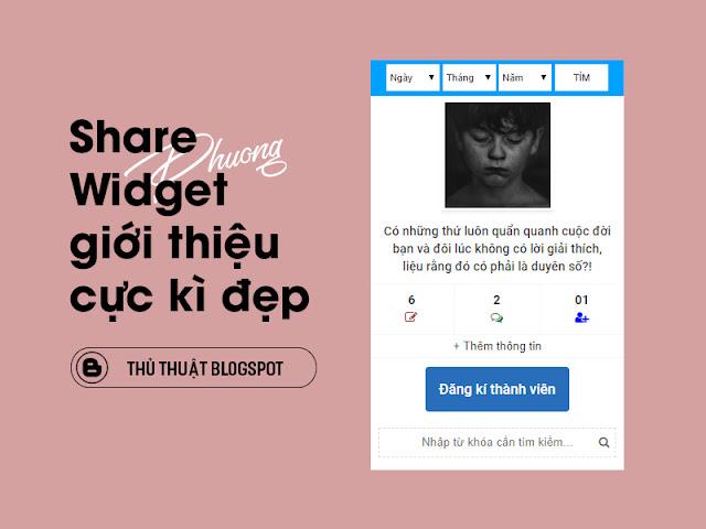 Share Widget giới thiệu cực kì đẹp