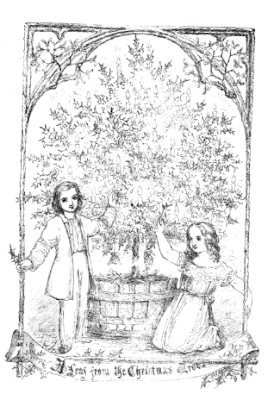 Frontispiece engraving A Leaf From A Christmas Tree (1852)