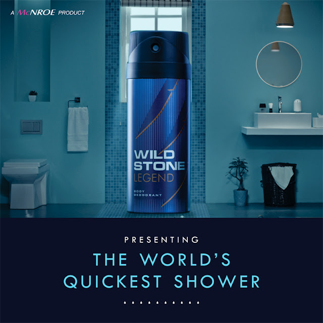 Wildstone initiated social media campaign #WorldQuickestShower featuring Wildstone 'LEGEND