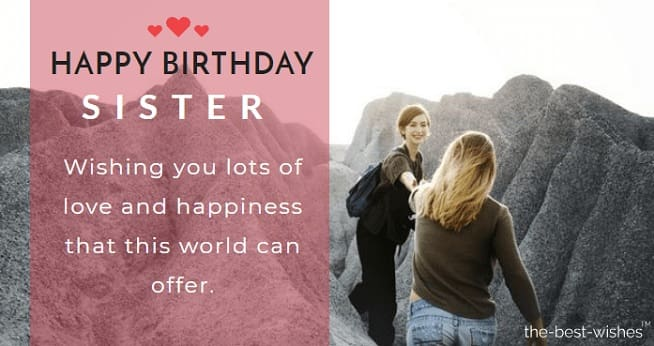 Inspirational Birthday Quote for Sister